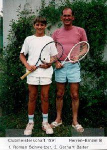 Chronik TCL Clubmeisterschaft 1991 - Herren-Einzel B