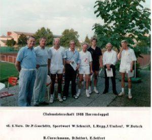 Chronik TCL Clubmeisterschaften 1988 - Herrendoppel