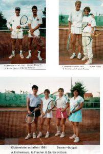 Chronik TCL Clubmeisterschaft 1991 - Damen-Doppel