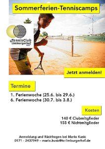Sommerferien-Tenniscamp 2018