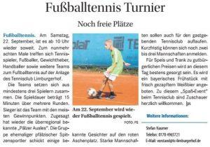 Fußballtennis Turnier beim TC Limburgerhof