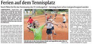 TCL Tenniscamp 2019 - Ferien auf dem Tennisplatz