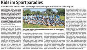 Kids im Sportparadies - TCL Sportcamp 2019
