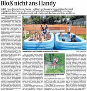 Der Artikel erschien in der Zeitung Rheinpfalz.