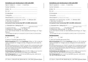 Tennis Camp 2021 - Anmeldung 2021 Mario Kusic